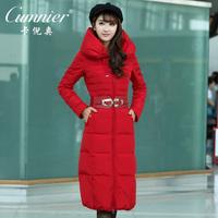 2014 women's outerwear fashion ultra long thickening medium-long slim down coat female