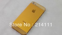 DHL Freshipping For iPhone 5 Nut Back Cover Housing Battery Door with Parts TOP Bottom Glass  50pcs/lot