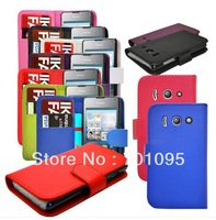 100pcs/lot 8 Colors PU Leather Wallet  Flip Phone Case Cover For Huawei Ascend U8833 Y300 Free Shipping
