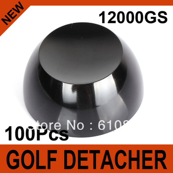 100Pcs Black Golf Detacher Super Magnetic Force 12000GS Hard Detacher Security Tag Remover Eas System