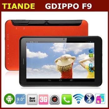 iPPO F9 MTK8377 Dual Core 3G Phone Tablet PC 9 Inch Screen Android 4.1 GPS 1GB RAM 8GB ROM Bluetooth Dual SIM  Dual Camera