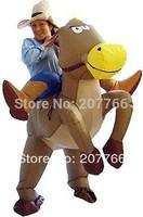 Halloween costume adult inflatable cowboy horse costume ride on horse costume fat inflatable clothing