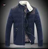 2013 new winter autumn -summer outdoor men down jacket parka brand fur collar plus big size thickening patchwork 0D