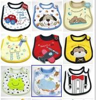 Bibs 9pcs/lot for boys style 100% cotton unisex various style Burp clothes