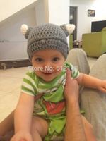 Wholesale cartoon baby winter hat animal knitted hat handmade children warmer caps baby crochet hat