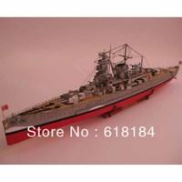 Free shipment paper ship model 1 meter Long 1:200 World War II German Pocket Battleship Admiral Graf Spee 3d puzzle paper craft