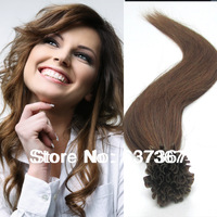 "18"" 20"" 22"" #8 Ash Brown 50g U Tip Good  Brazilian Straight Virgin Hair Remy Human Hair Pre-bonded Hair Extensions Free Shipping"