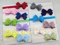 50pcs/lot 20 COLORS,9CM hair bows on the headbands, air accessories,headbands,baby headband