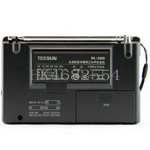Wholesaler TECSUN PL 380 Gift Mini Radio DSP ETM PLL World Band FM SW MW LW