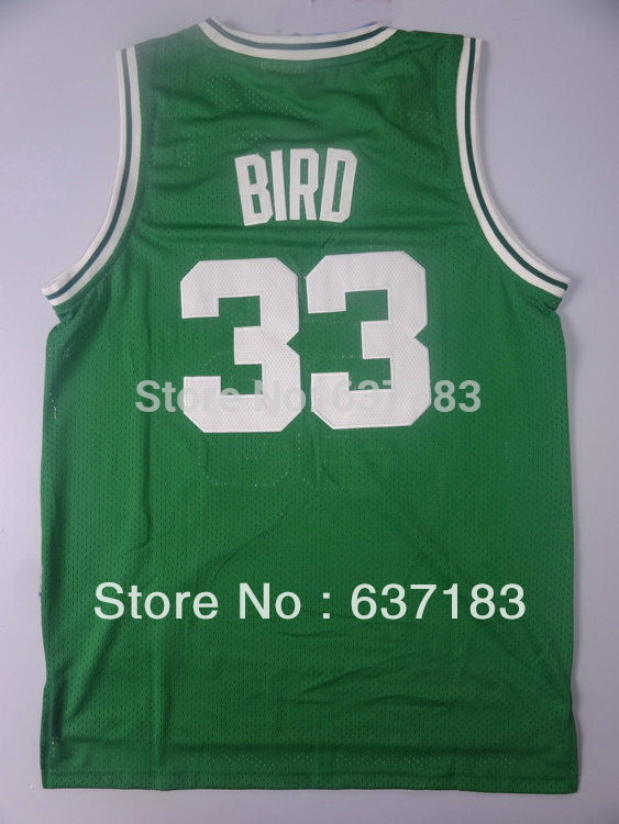 Mens Cheap #33 Larry Bird Road White/Green Home Sport Jersey,Wholesale 2013 Boston Mesh Basketball Shirt,Stitched Name Numbers(China (Mainland))