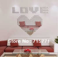 100 PCS 5 CM Acrylic Crystal mosaic wall sticker decoration wallpaper mosaic  creative DIY  wall sticker  mirror mosaic