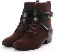 Male Fashion Pointed Toe Leather Men's Elevator Boots Wedge Booties Ankle Men Winter Boots British Style 8816