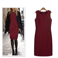 New arrival 2013 women autumn&winter sleeveless bottom dress vest dress fashion F151