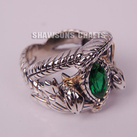 LORD OF THE RINGS 925 STERLING SILVER ARAGORN'S RING OF BARAHIR FASHION MENS RING 7-13