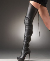 Free Shipping 2013 women stylish platform high heel thigh boots for women ! over the knee boots