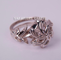 LORD OF THE RINGS 925 STERLING SILVER NENYA GALADRIEL RING FASHION WOMENS RING 5-9