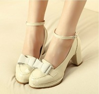 Free shipping 2013 spring explosion models temperament noble shoes shallow mouth round head thick with waterproof heels
