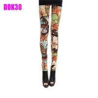 New Womens Punk Sexy Funky Stretchy Leggings Pencil Skinny Pants Pick DDK30