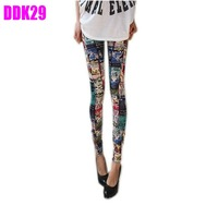 New Womens Punk Sexy Funky Stretchy Leggings Pencil Skinny Pants Pick DDK29