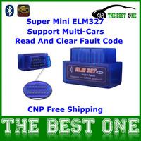 Latest V2.1 Super Mini Elm327 Bluetooth OBD II Diagnostic Scanner Mini ELM 327 On Android/PC Support OBD2 Protocols 12 Languages