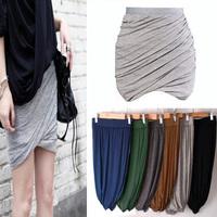 2014 New Novelty fashion  Superstar Designer All Match Muilty color elastic Model cotton skirt short casual skirt  Free shipping