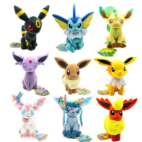 Attrapez les tous! Mes Eeveelutions (et autres) Anime-9PCS-New-7-5-10-Pokemon-Eevee-ESPEON-SYLVEON-VAPOREON-JOLTEON-Plush-Toy-PC2193-For
