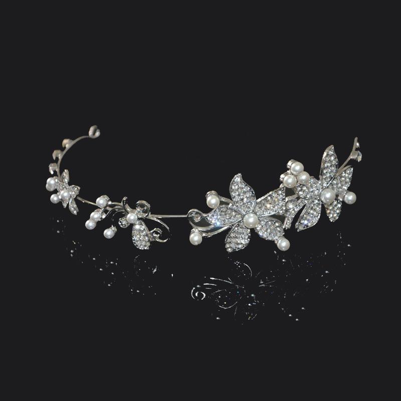 Free shipping Wedding jewelry bridal wedding hair accessories crystal rhinestone Bridal headband Hair Ornaments(China (Mainland))