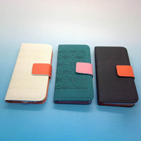 For iPhone 5 5G Magnetic Flip Hard Case Diamond Pattern Cover PU Leather Pouch