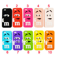 Newest Cute Lovely cartoon Funny  pattern soft Silicon back cover Case For iphone 4 4G 5 5G