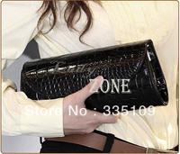 Wholesale 4pcs/lot Women's Evening Bag Elegant Leather Clutch Bags Lady Purse Wedding Bridal Party Handbag Bags 2 Colors 7412