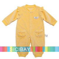 Baby Winter Clothing Warm Jumpsuits Cotton Baby Kids Wear,Free Shipping  K3205