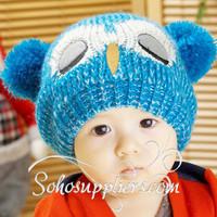 Unisex Baby Knitted Winter Hats Animal BeanieToddler Cartoon Hats Boy Girl Winter Hat Cap 5pcs Free Shipping MZD-058
