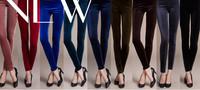 High Quality Velvet Velour Leggings in Vintage Punk High Waist Bodycon Espresso Black Celebrity Velvet Legwear    9 Colors
