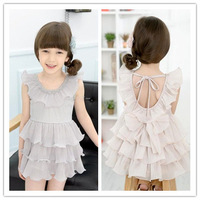 Free Shipping ! Wholesale new arrival 2013 summer kids dress Multi-level bow princess dress baby girl's dress #M13158