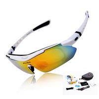 WOLFBIKE Men Fashion Cycling Glasses Bicycle Road Mountain Bike Riding Sun Glasses Eyewear Goggle Sunglasses 5 Lens Polarized