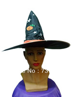 Halloween table magic hat costume pumpkin black big hat