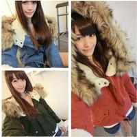 New Fashion Women's Ladies Winter Warm Thick Long Sleeve Faux Fur Hooded  Zipper Fleece Jacket Coat Parka Outwear
