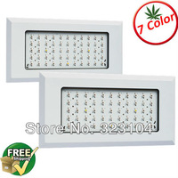 Free Shipping 2pcs 150w high power led grow lights 7 bands color ratio full spectrum magic grow