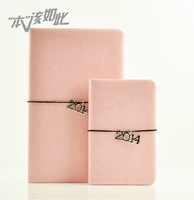 Crazy Hot 2014 new a5 a7 Faux Leather notebook Soft diary Copybook Fitted Binding Calendar Notepad office handbook customized