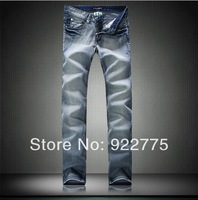 Size:28-36#KP0851,Distrressed Ripped Jeans Men,2013 Fashion Brand Famous Mans Jeans,Plus Size Jeans,Dark Color Denim Men's Jeans