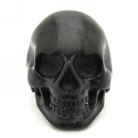 Mens Ring, 316L Stainless Steel Rock Fashion Cool Biker Black Skull Ring, Free Shipping
