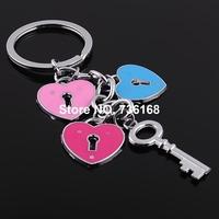 Free shipping llavero del corazon enemal heart key ring wholesale fashion zinc alloy colorful enemal key chain fashion