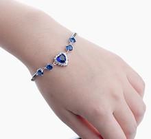 Platinum Plated New Designl Titanic The Heart Of The Ocean Blue Austrain Crysta Bracelets For Women(China (Mainland))