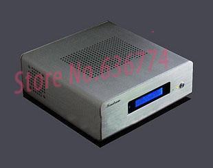 Mini itx aluminum computer case htpc aluminum computer case h112 silver&black only case