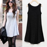 new 2013 fashion big size dress woman plus size tank dress white/black/gray L XL XXL XXXL XXXXL XXXXXL 6XL