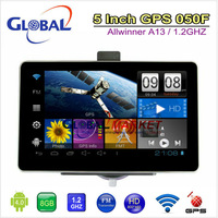 Free shipping new i-phone 4 design 5 inch android 4.0 car hand held GPS tablet 1.2GHz 512MB 8G 800*480HD support 2160P video