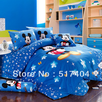 queen size mickey mouse bedding 5pc,comforter quilt +Duvet sets in a bag,500TC cartoon mickey mouse comforter sets queen/full