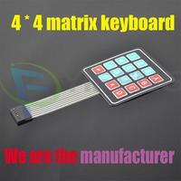 4 * 4 matrix keyboard 4 * 4 matrix keypad keyboard membrane switch Microprocessor control panel