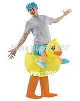 NEW Adult Mens Womens OSFM Inflatable YELLOW DUCKIE Halloween Costume DUCK