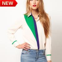 new 2013 flower printed brand blouses  tops women clothing blouses  fashion European style chiffion shirt bk632